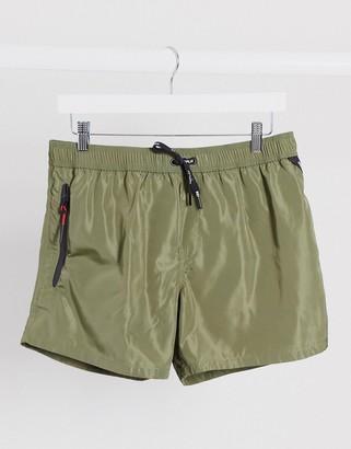 Replay plain swim shorts in green