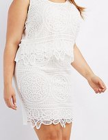 Charlotte Russe Plus Size Medallion Crochet Pencil Skirt