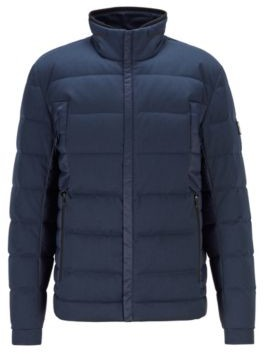HUGO BOSS Water-repellent down jacket with mixed fabrics