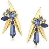 "Sorrelli Sweet Sapphire"" Crystal and Metal Spike Statement Drop Earrings"