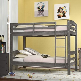 Viv + Rae Ralph Twin over Twin Bunk Bed Bed Frame Color: Rustic Grey