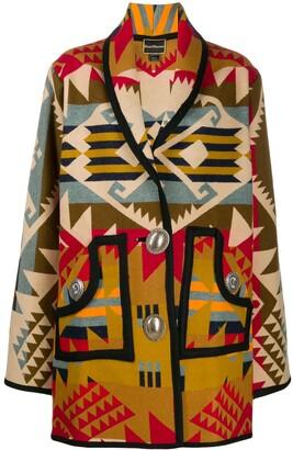 Jessie Western Concho oversized printed coat