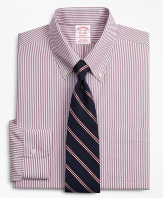 Brooks Brothers Madison Classic-Fit Dress Shirt, Non-Iron Bengal Stripe