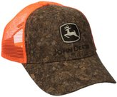 John Deere Wood Front Blaze Orange Mesh Hat