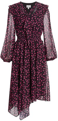 Milly Adeline Floral Midi Dress