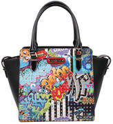 Nicole Lee Women's Street Style Graffiti Print Satchel