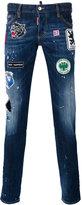 DSQUARED2 Slim distressed patch jeans - men - Cotton/Spandex/Elastane - 46