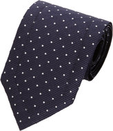 Lanvin Pin Dot Lacquered Tie