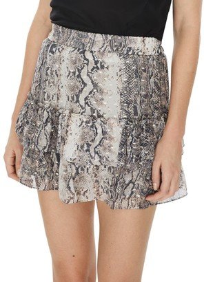Generation Love Audrina Python Print Mini Skirt