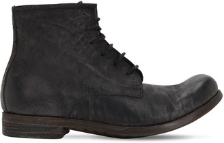 A Diciannoveventitre HANDMADE LEATHER LACE-UP BOOTS