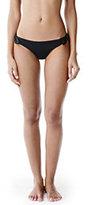 Lands' End Women's Side Tie Bikini Bottoms-Medium Wash Denim