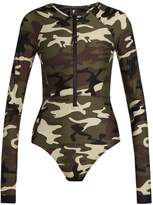 The Upside Camouflage-print performance paddle suit