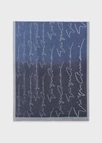 Giorgio Armani Stole With Colourful Gradient And Signature