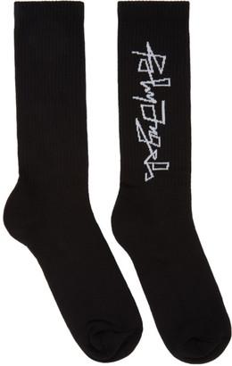 Palm Angels Black Desert Logo Socks