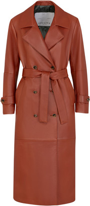 Giuliva Heritage Collection The Christie Leather Trench Coat
