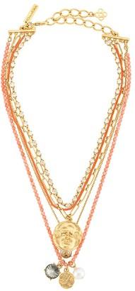 Oscar de la Renta Tiered Charm Necklace