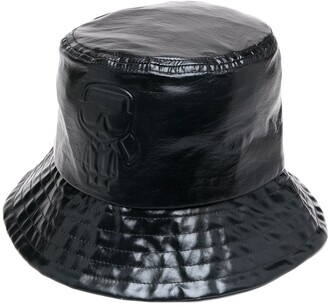 Karl Lagerfeld Paris Metallic-Tone Bucket Hat