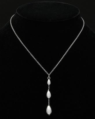 Italian Silver Graduated Bead Necklace