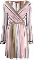 Missoni striped wrap dress