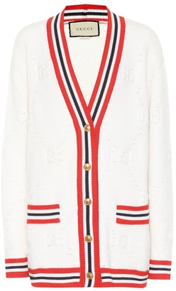 Gucci GG wool and silk cardigan