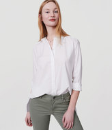 LOFT Swingy Tunic Softened Shirt