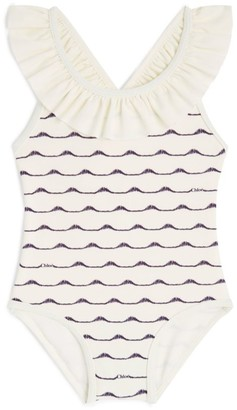 Chloé Kids Wave Frilly Swimsuit (6-36 Months)