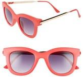 A. J. Morgan Women's A.j. Morgan 'Lily' 50Mm Retro Sunglasses - Coral