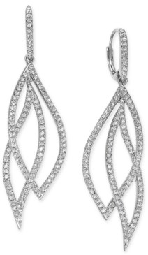 Eliot Danori Pave Crystal Leaf Earrings, Created for Macy's