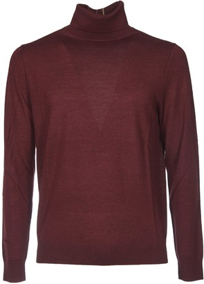 Paul Smith Burgundy Turtleneck With Multicolor Detail