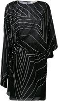 Saint Laurent star print asymmetric mini dress - women - Silk/Viscose - 38