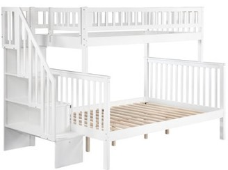 Atlantic Furniture Woodland Staircase Bunk Bed Twin over Full in Multiple Colors and Configurations