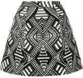 Alice + Olivia Alice+Olivia - geometric pattern A-line skirt - women - Acrylic/Polyester/Spandex/Elastane - 12