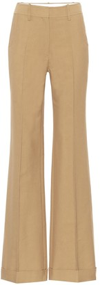 Victoria Beckham High-rise cotton-blend pants