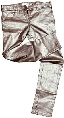 Christian Dior Gold Cotton Trousers for Women