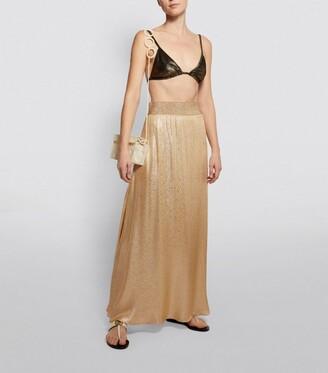 MARIE FRANCE VAN DAMME Metallic Maxi Skirt