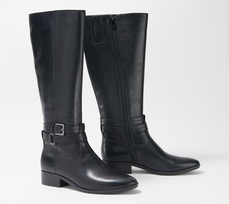 Naturalizer Wide Calf Leather Tall Riding Boot - Reid