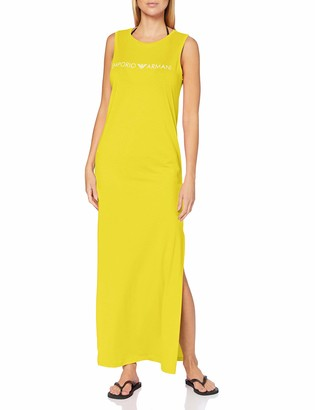 Emporio Armani Women's Long Tank Dress Logo Lover Cover-Up