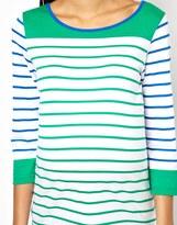 Asos Exclusive Top in Color Block Breton Stripe