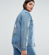 Alice & You Painted Floral Denim Jacket