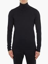 S.n.s. Herning Navy Merino Roll-neck Sweater