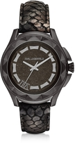 Karl Lagerfeld 7 44mm Python-Embossed Metallic Leather Band Unisex Watch