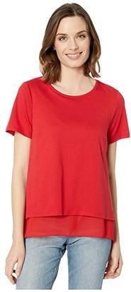 MICHAEL Michael Kors Back Cutout Short Sleeve Top (Black) Women's T Shirt