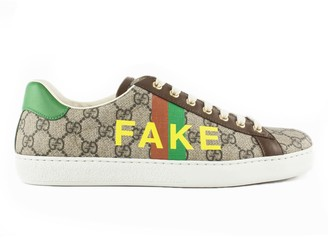 Gucci Fake/not Print Ace Sneaker