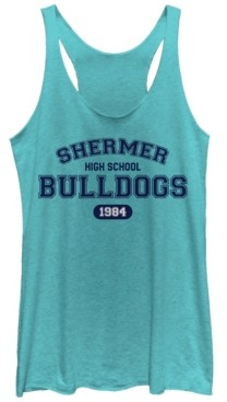 Fifth Sun Breakfast Club Shermer High Bulldogs Tri-Blend Racer Back Tank