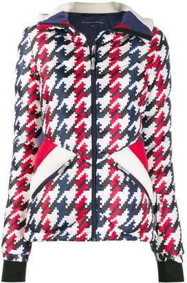 Perfect Moment Apres Duvet houndstooth jacket