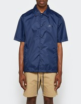 Stussy Short Sleeve Coach Jacket in Navy