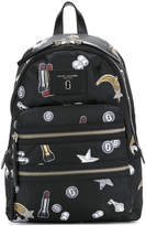 Marc Jacobs Tossed Charms Printed Biker backpack
