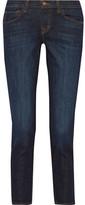 J Brand Sadey Cropped Mid-rise Slim Boyfriend Jeans - Dark denim