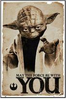 Art.com Star Wars Yoda ''May The Force'' Framed Wall Art