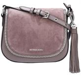 MICHAEL Michael Kors 'Brooklyn' saddle crossbody bag - women - Leather/Suede - One Size